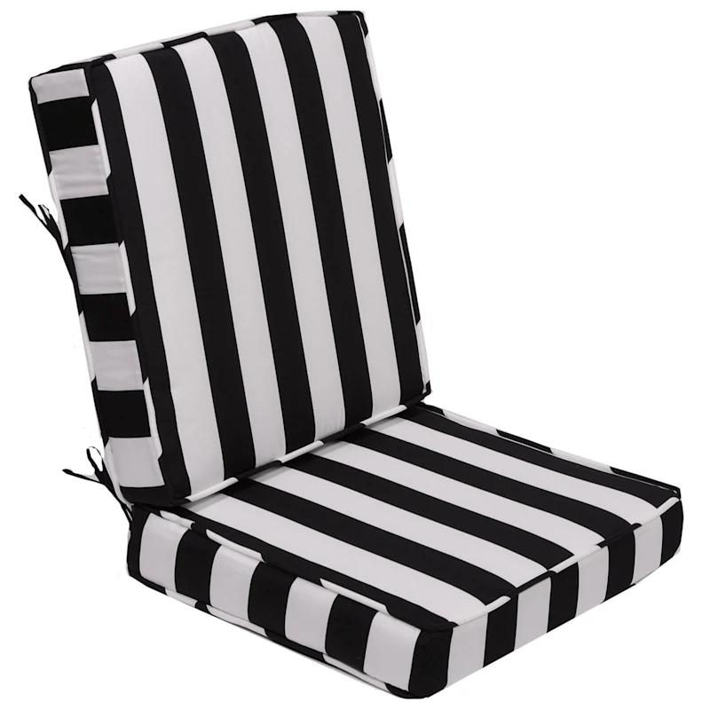 black awning stripe outdoor deep seat 2