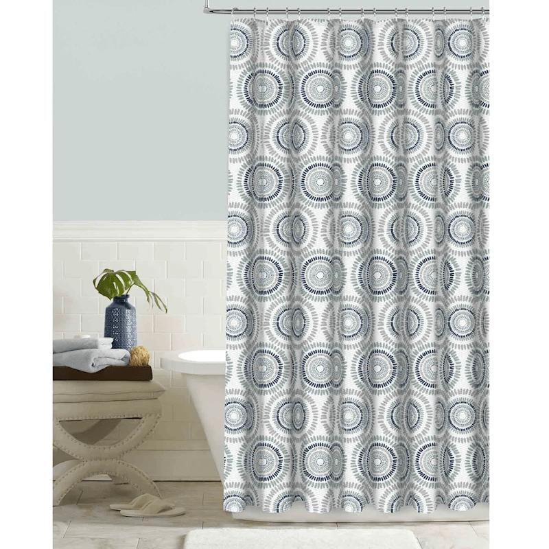 kaleidoscope indigo embossed shower