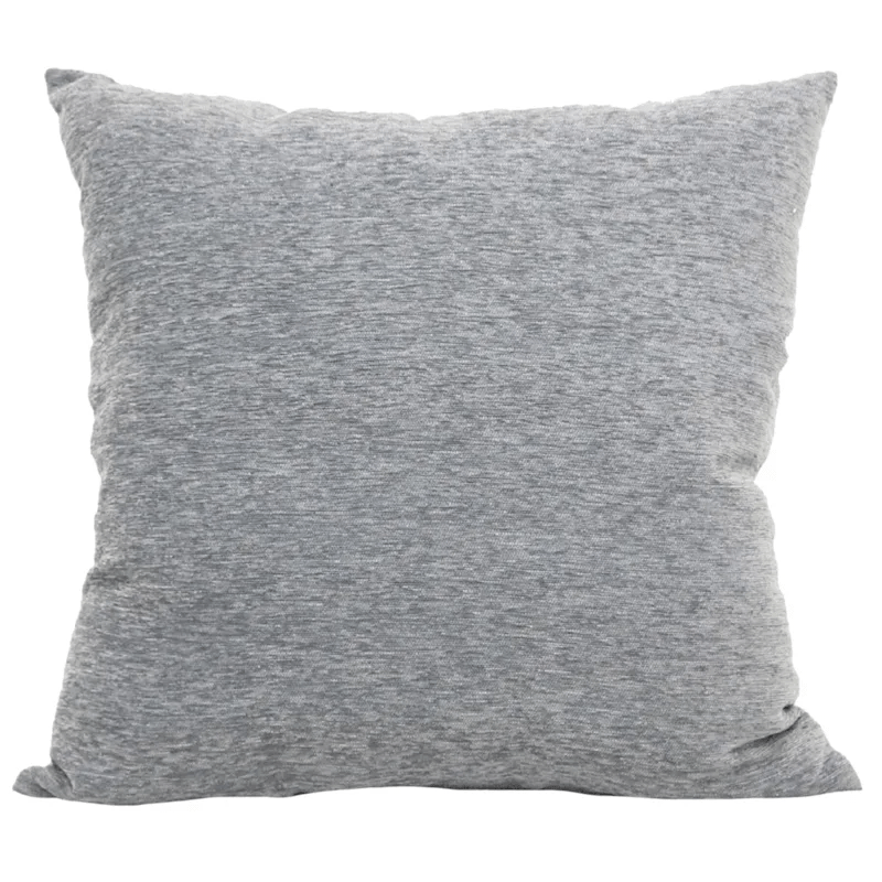 crown grey chenille oversized pillow