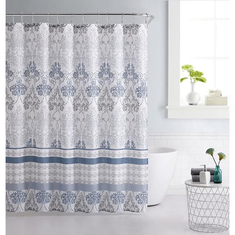 blue 13 piece shower curtain set