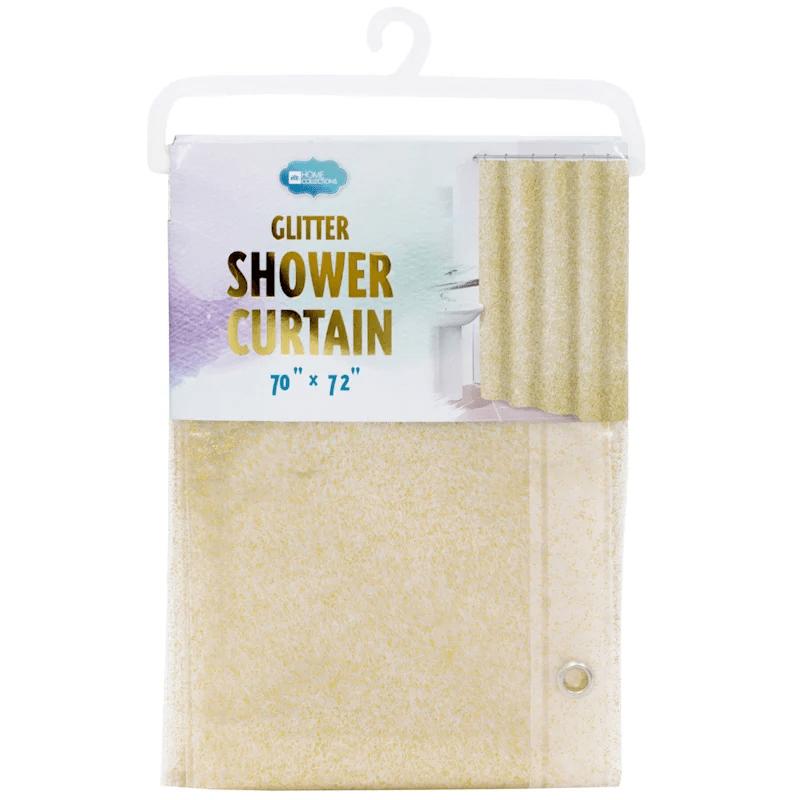 glitter peva gold shower curtain liner