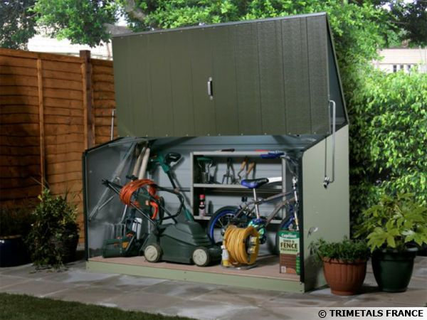 l abri de jardin en metal