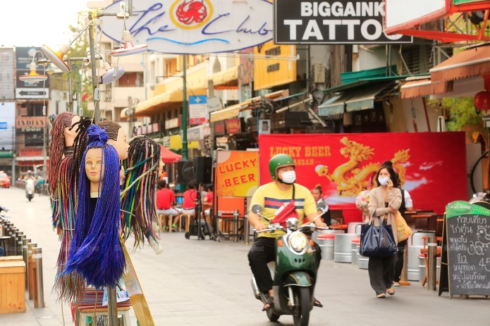 Khao San Road used to be a popular location during Songkran.