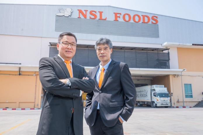 Mr Somchai, left, and Arkradej Liamcharoen, NSL Foods' vice president for Finance and Accounting.