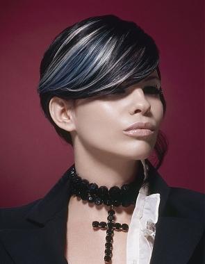 black hair highlight ideas