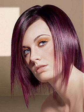 black hair styles purple hair highlights ideas 2011