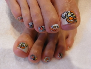 Nail Front Con Y Pedicura Unos Pies ArtIn Row Style Top Luce shrQdCt
