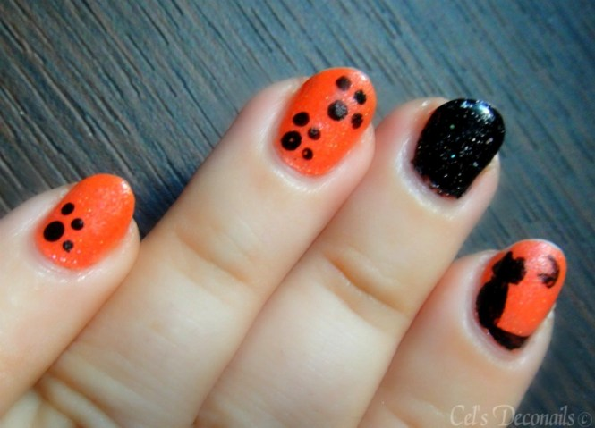 How To Do Studded Nail Art On Black Polish Step By Tutorial