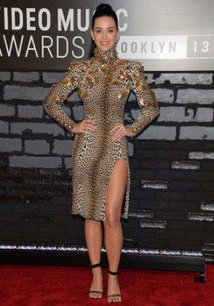 Katy Perry Ungaro Leopard Print Dress