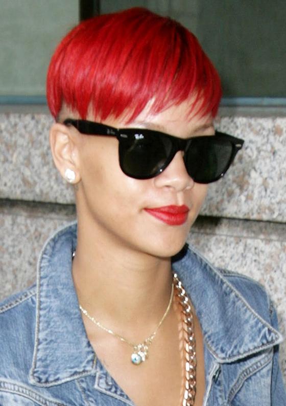 Rihannas New Short Hairstyle The Pixie Cut