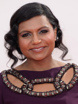 Mindy Kaling Curly Updo