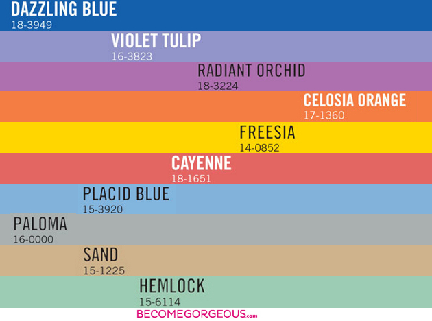 Pantone Spring 2014 Color Trends Forecast