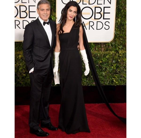 Amal Clooney 2015 Golden Globe Awards