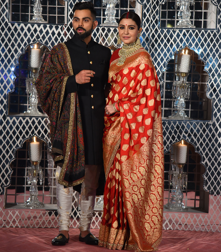 Anushka wearing Sabyasachi Saree