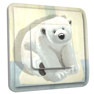 Interrupteur décoré simple Ours blanc   par  DKO Interrupteur