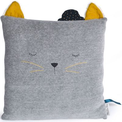 coussin chat fernand les moustaches 30 x 30 cm