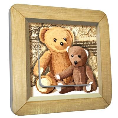 Interrupteur décoré simple Maman et Bébé ours   par  DKO Interrupteur