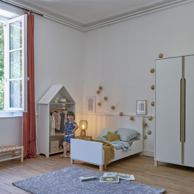 lit bebe evolutif et cabane blanc celeste 70 x 140