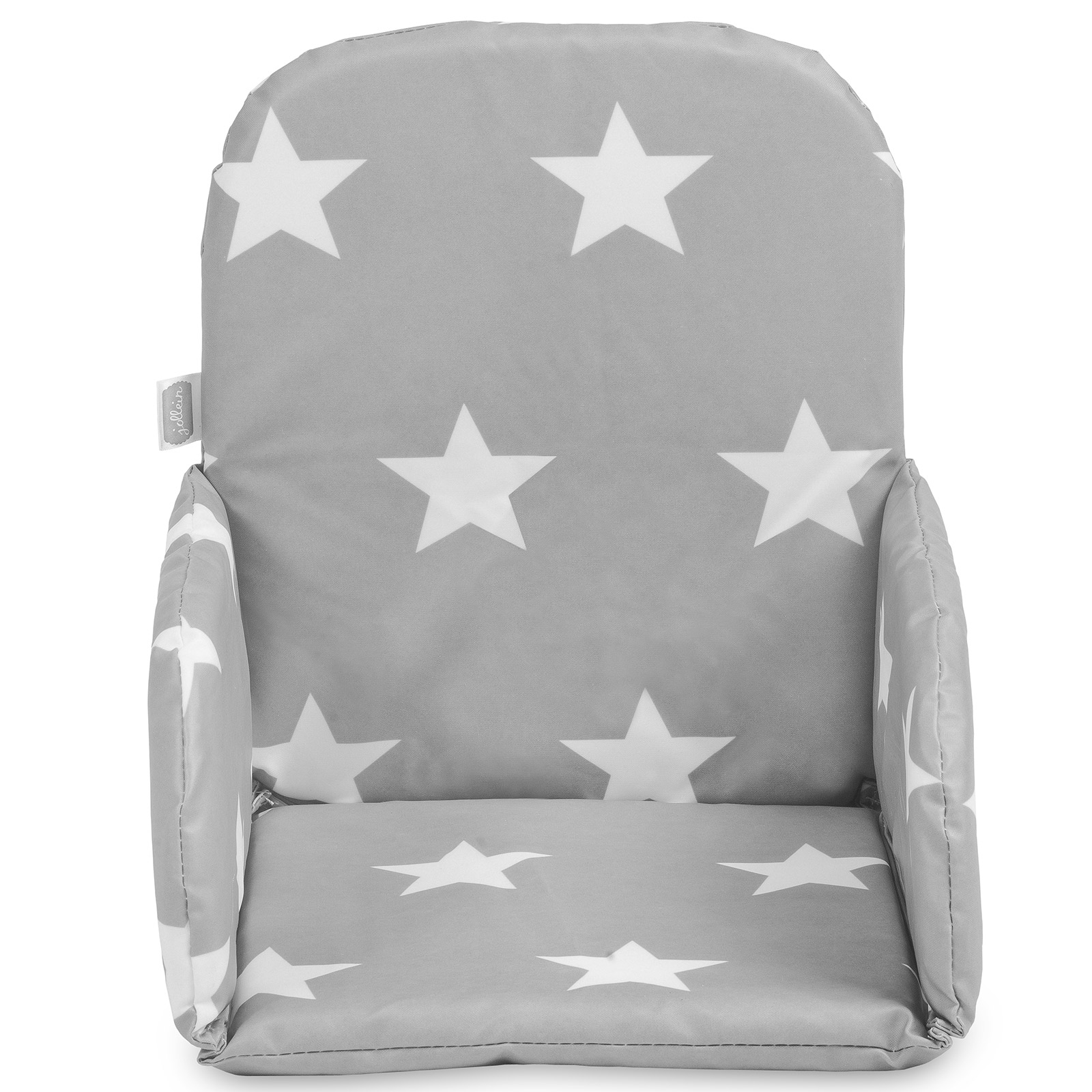 coussin chaise haute little star etoile gris anthracite