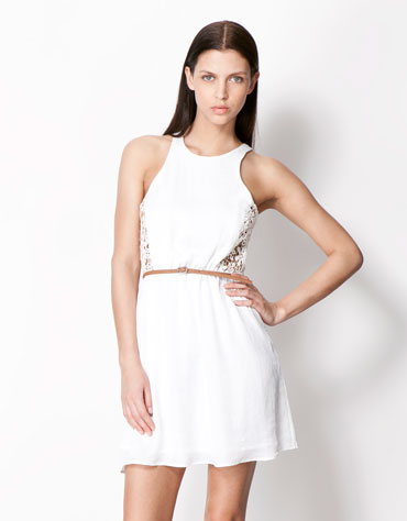 vestido branco bershka