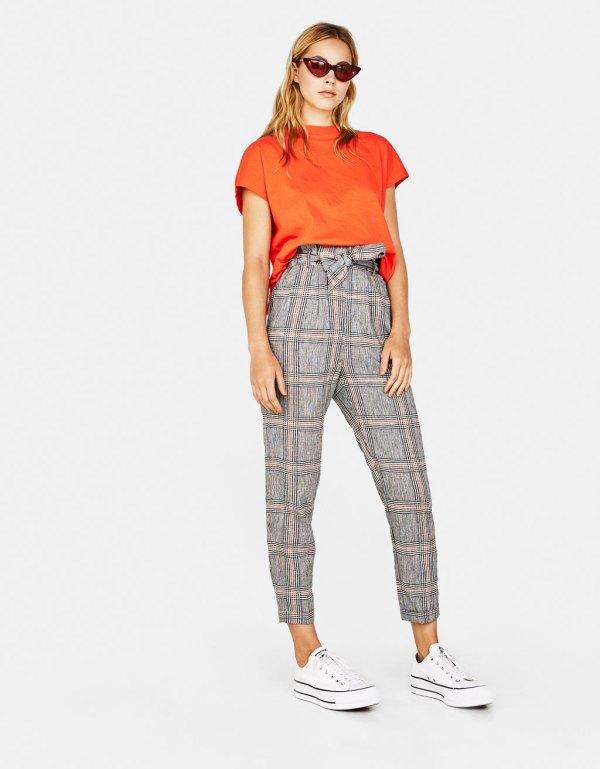 Pantalón paperbag de lino