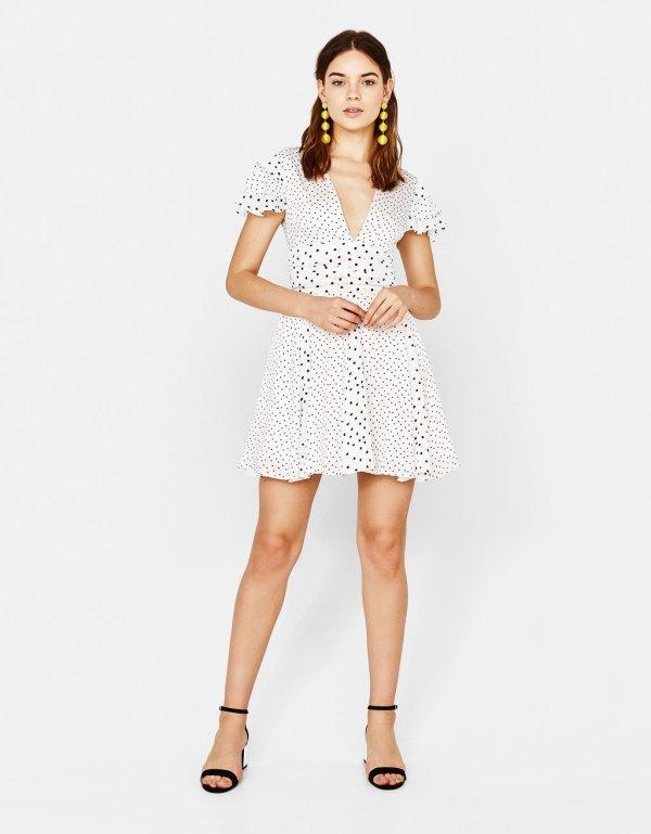 Vestido corto de lunares