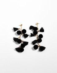 Boucles d'oreilles à pompons