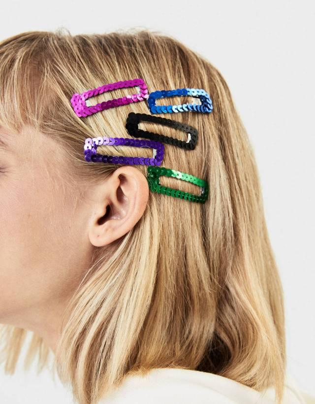 Pack de clips con lentejuelas