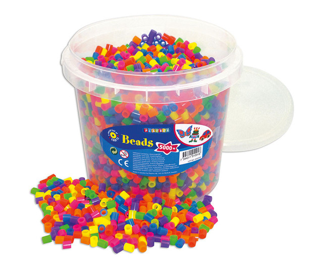 Perler Beads With Hama Beads And Fluorescent Uv Beads With Neon