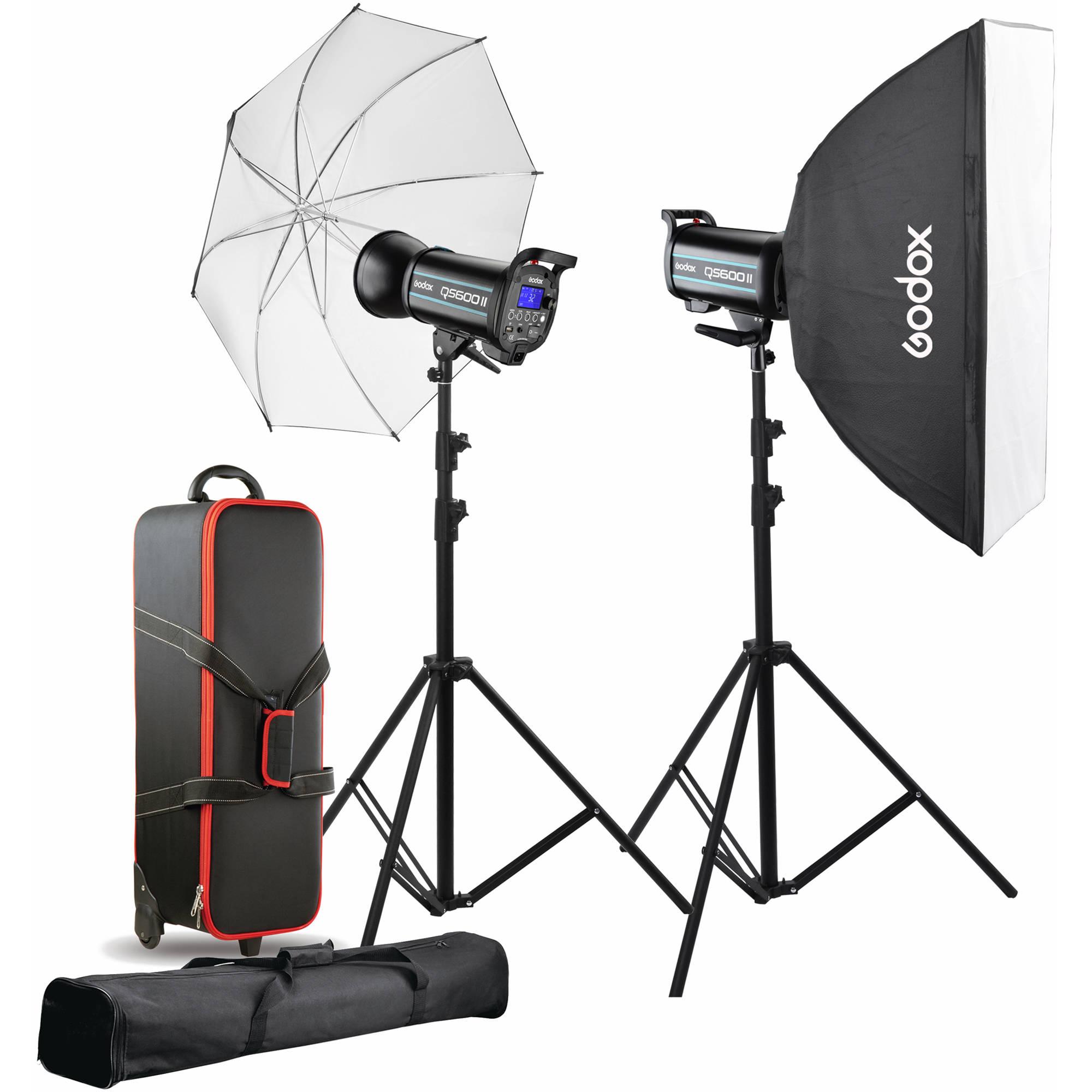 godox qs600ii 2 light studio flash kit
