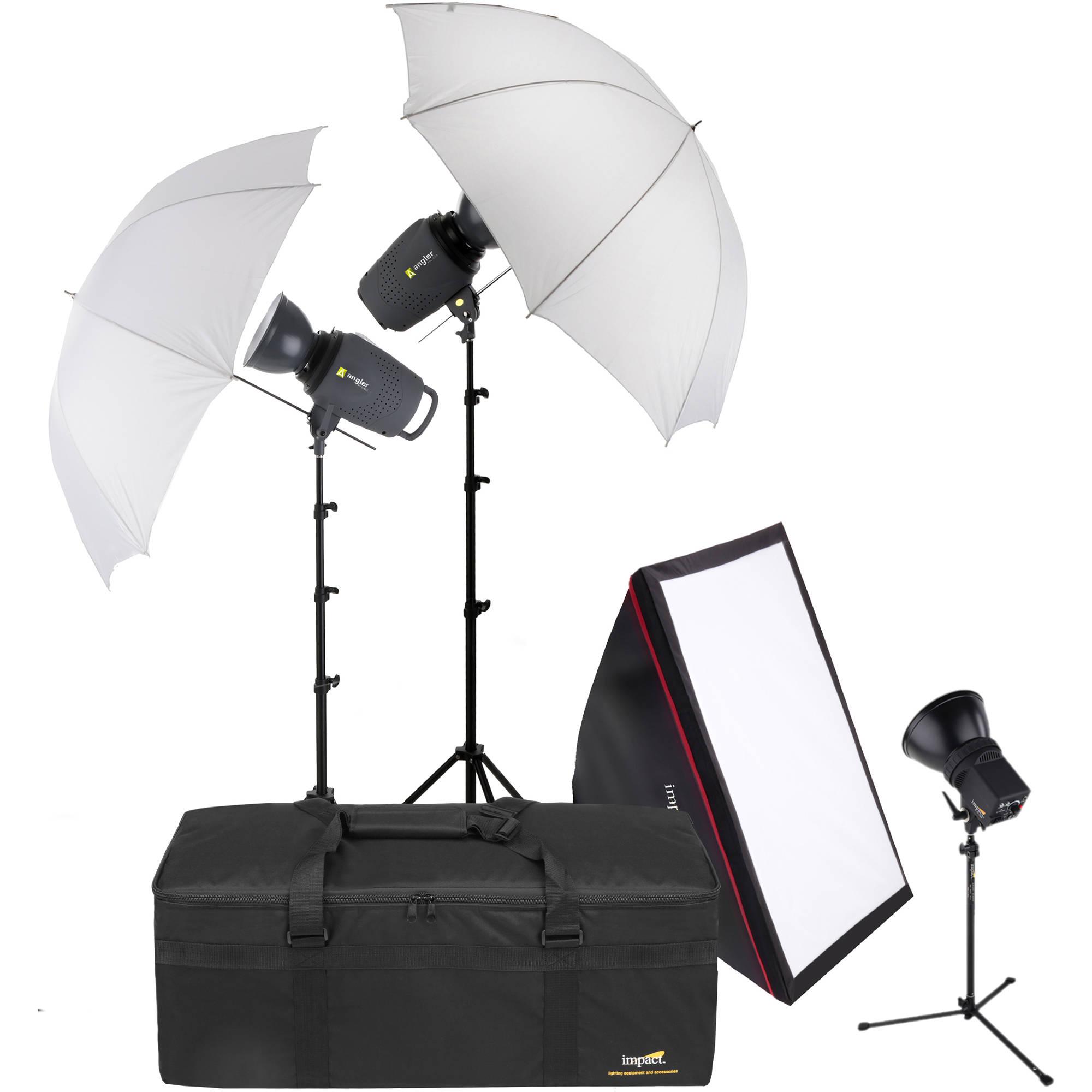 angler 3 monolight portrait back light kit with case