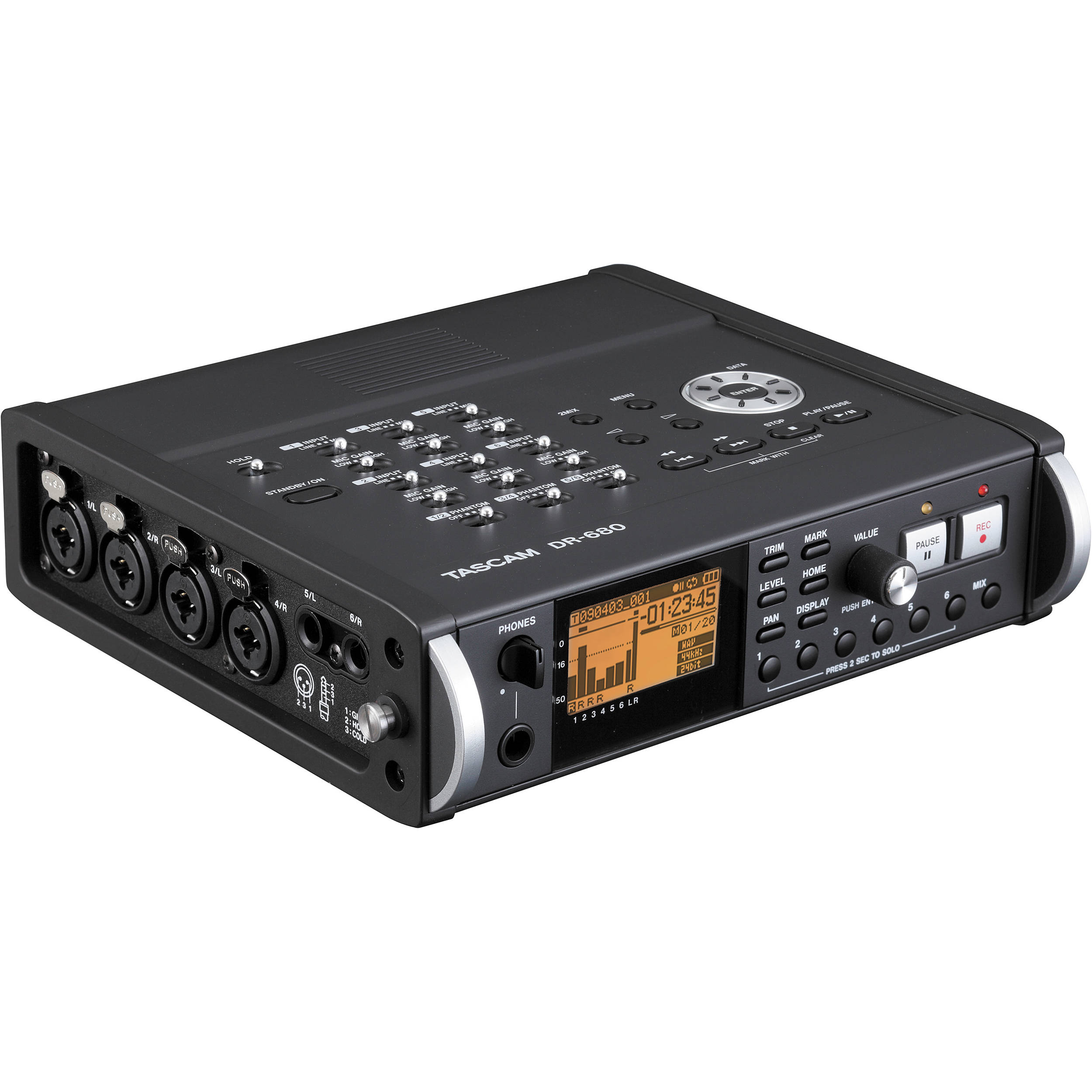Tascam Dr 680 8 Track Portable Field Audio Recorder Dr 680 B Amp H