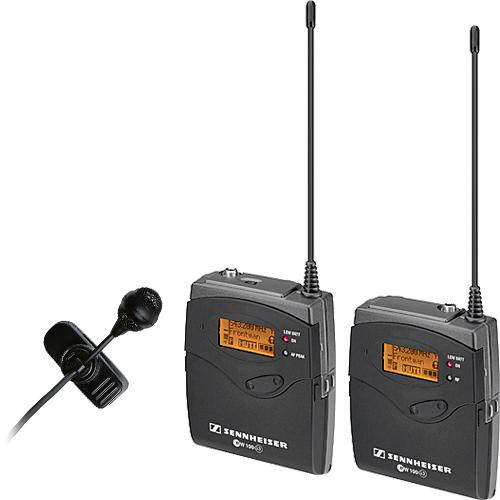 Sennheiser ew 122-p G3 Camera Mount Wireless Microphone System with ME 4 Lavalier Mic - B (626-668 MHz)