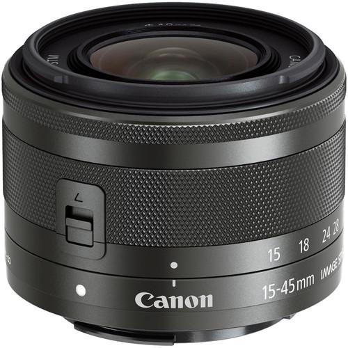 Canon EF-M 15-45mm f/3.5-6.3 IS STM Lens (Graphite)