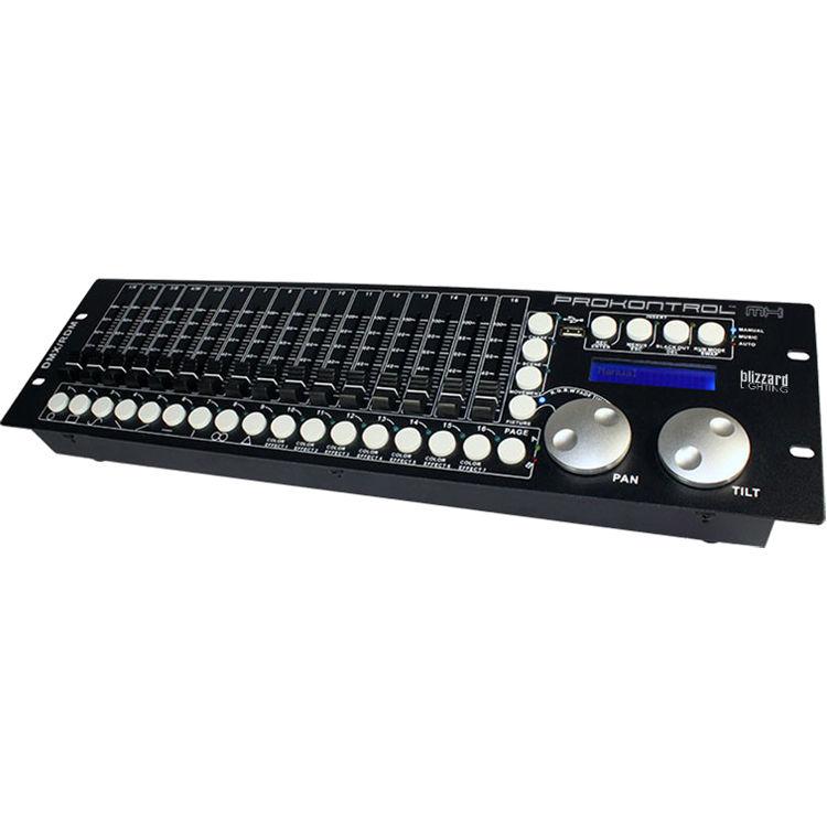 blizzard prokontrol mh dmx lighting controller