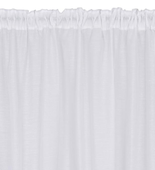 voilage avec lin a galon fronceur point plat blanc 240x260 cm absolument maison bhv marais