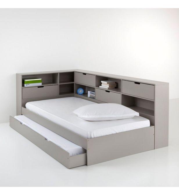 lit avec tiroir rangements et sommiers