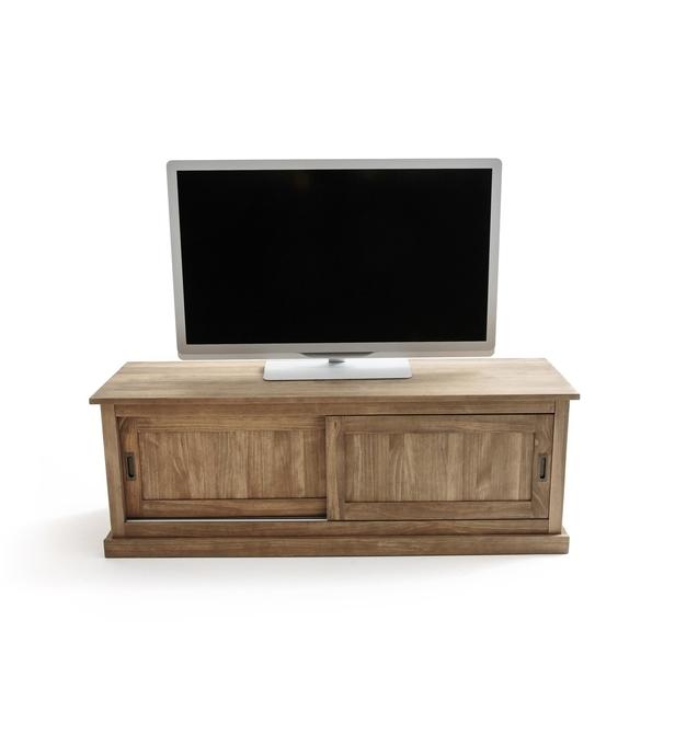 meuble tv 2 portes coulissantes lunja