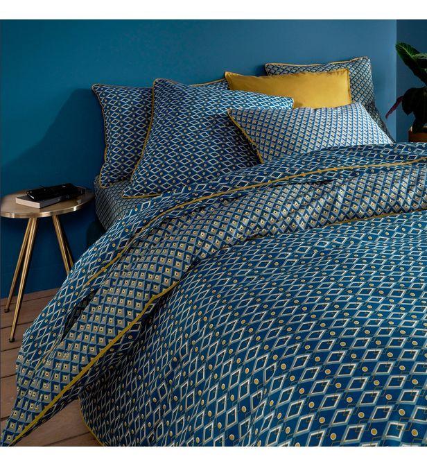 Housse De Couette Pur Coton Pallazzo La Redoute Interieurs Bleu Bhv Marais