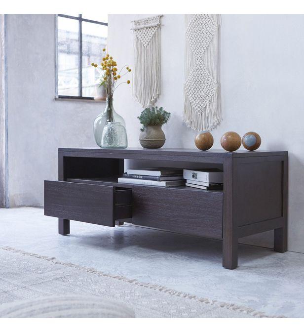 meuble tv en bois de mindi wenge 120