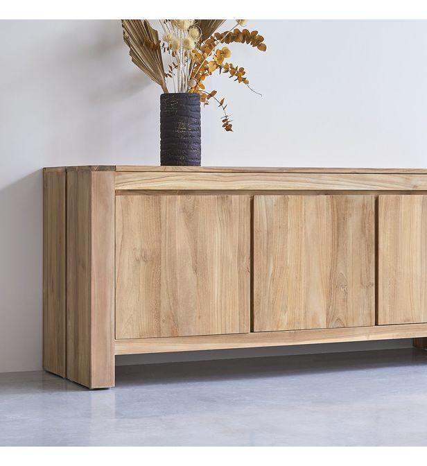buffet bahut petit meuble en teck 160cm