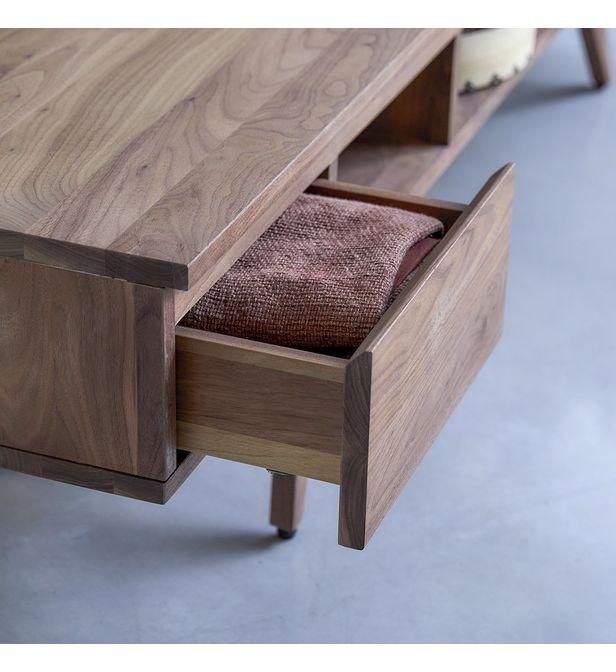 meuble tv en bois de noyer 180 esmee