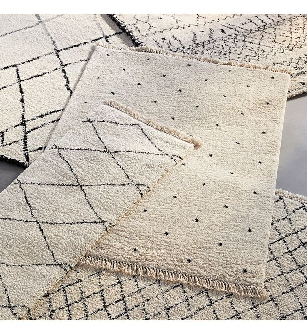 tapis style berbere petits motifs pois