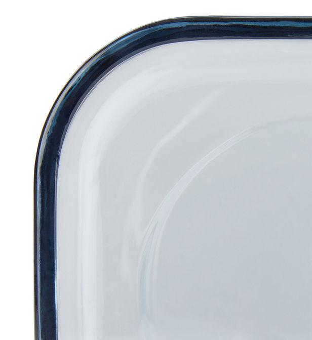 porte savon carre rayme verre bleu 10 x