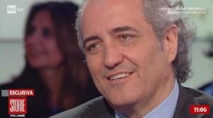 Storie Italiane, Giovanni Terzi e la dichiarazione d'amore in diretta a Simona Ventura