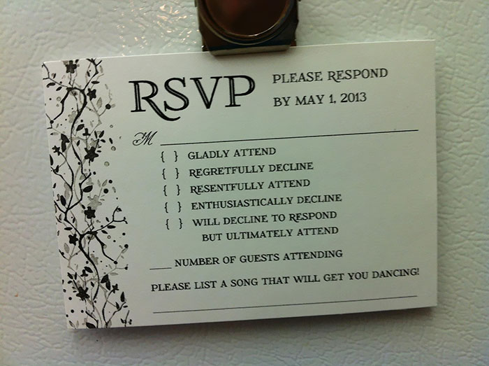 9 Hilarious Wedding Invitations That Simply Can T Be Ignored Bored Panda