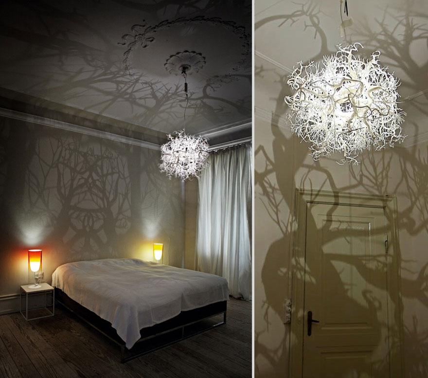 21 DIY Lamps   Chandeliers You Can Create From Everyday Objects     creative diy lamps chandeliers 3 1