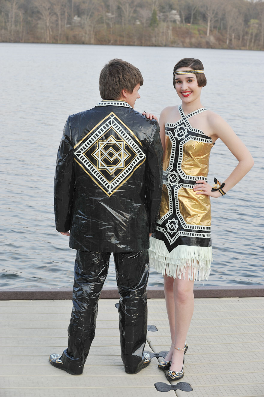 This Couple Created Their Prom Outfits From Duct Tape