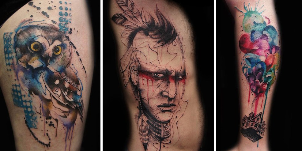 Tattoo Artist Creates Impressive Freehand Tattoos On The Spot