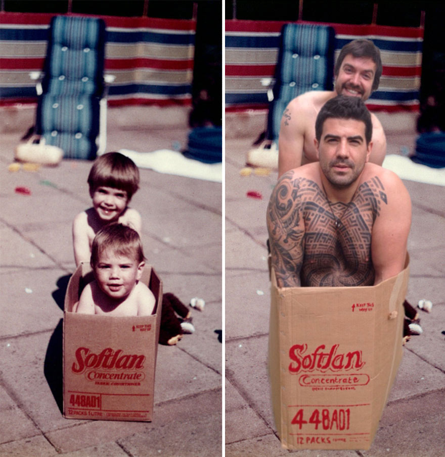 before-and-after-brothers-childhood-photos-parents-anniversary-gift-5